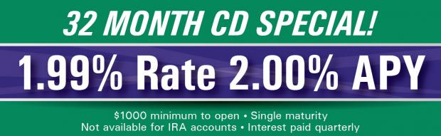 32 Month CD Special - New